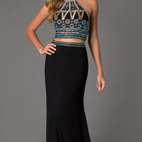 Long Two Piece Dave and Johnny Prom Dress