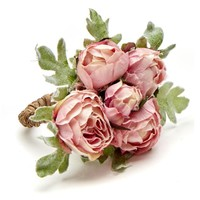 Rose Bouquet Napkin ring - Set of 4 Pink