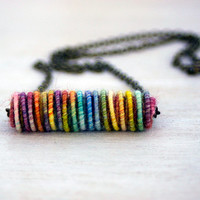Freestyle Yarn Bead Necklace