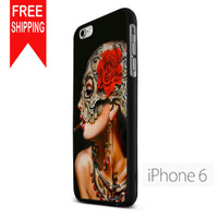 Floral Sugar Skull SigaretNN iPhone 6 Case