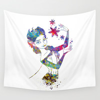 Queen Elsa from Frozen Wall Tapestry by Bitter Moon