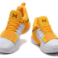 Nike Zoom Paul George PG 1 Yellow /White Basketball Shoes