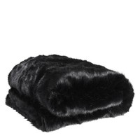 Black Fur Throw | Eichholtz Alaska