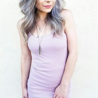 SIMPLE SIDE OF THINGS DRESS IN MAUVE
