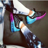 Nike Trending Airmax Behind The Hook Section Rainbow Fashion Casual Sneakers Sport Shoes