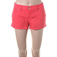 Levi's Womens Juniors Twill Colored Casual Shorts