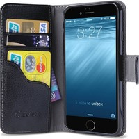 iPhone 6s Plus Case, [Wallet Case] i-Blason KickStand Apple iPhone 6 Plus Case 5.5 Inch Leather Cover with Credit Card [ID Holders] (Black)