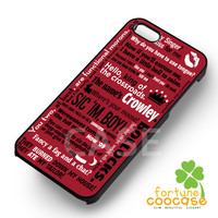 Supernatural crowley quotes - 21z for  iPhone 4/4S/5/5S/5C/6/6+,Samsung S3/S4/S5/S6 Regular/S6 Edge,Samsung Note 3/4