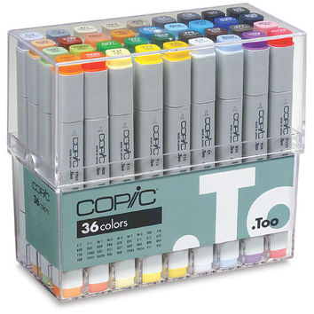 Copic Sketch Markers   Choose 36 (Basic or Anniversary Edition) or 12 Piece Marker Set   Free Standard Shipping (U.S. Only)