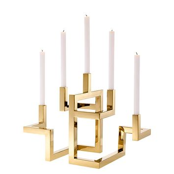 Brass 5 Arm Candle Holder | Eichholtz Skyline