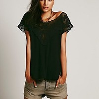 Free People Womens FPX Honeycomb Tee