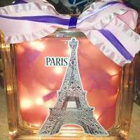 Favorite City, Location or Place Lighted Glass Block, Home Glass Decor and Gifts