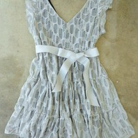 A Shade of Gray Lace Party Dress [2304] - $37.00 : Vintage Inspired Clothing & Affordable Fall Frocks, deloom | Modern. Vintage. Crafted.