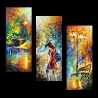 Aura of Autumn (Set of 3 paintings)- oil painting by Leonid Afremov