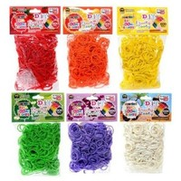 D.I.Y. Do it Yourself Bracelet Zupa Loomi Bandz 3600 Fruity Tooty Scented Rubber Bands with 'S' Clips Set of 6