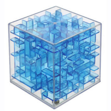 High Quality Transparent 6cm 4 Colors Maze Magic Cube Cubos Early Childhood Educational Intelligence Gift Magique Adult Kids Toy