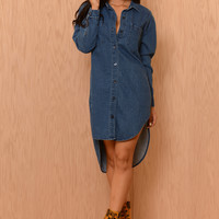 Chi Dress - Denim