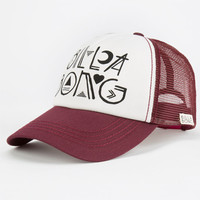 Billabong Tide Down Womens Trucker Hat Burgundy One Size For Women 24805232001