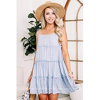 Oh So Chic Baby Blue Cami Dress