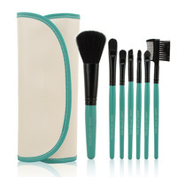 Professional 7 Piece Makeup Brush Set (Aqua)