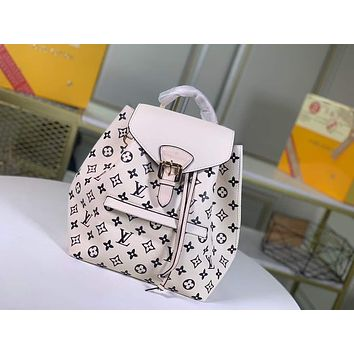 LV Louis Vuitton MONOGRAM LEATHER SMALL Montsouris BACKPACK BAG