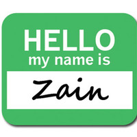 Zain Hello My Name Is Mouse Pad