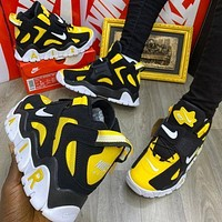 Nike Air Barrage Mid new color-blocking couple platform sneakers Shoes Yellow