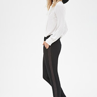 Satin-Striped Trousers