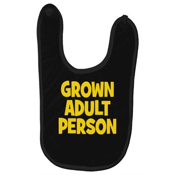 grown adult person Baby Bibs