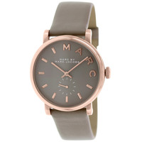 Marc by Marc Jacobs MBM1266 Women's Baker Grey Dial Grey Leather Watch