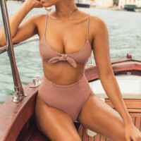 2018 Sexy Stitching Two-Piece Swimsuit
