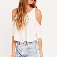 Kimchi Blue Cold Shoulder Gauze Top - Urban Outfitters