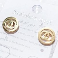 GUCCI  New fashion letter round circle earring women jewelry