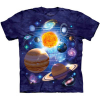 YOU ARE HERE The Mountain Space Stars Galaxy Planet Solar System T-Shirt S-3XL