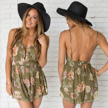Floral Breeze Romper