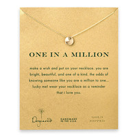 Dogeared 'One In a Million' Gold Dipped Pendant Necklace