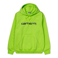 Hooded Carhartt Sweatshirt in Lime