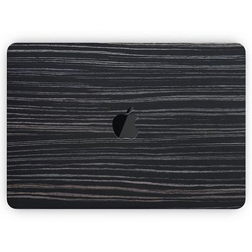 """Black Wood Texture - Skin Decal Wrap Kit Compatible with the Apple MacBook Pro, Pro with Touch Bar or Air (11"""", 12"""", 13"""", 15"""" & 16"""" - All Versions Available)"""