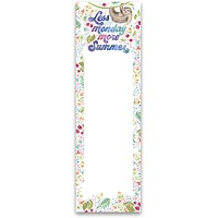 "Last Call! Less Monday More Summer List Floral Notepad | 9.5"" x 2.75"" 