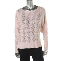 Hasson Womens Silk Open Stitch Pullover Sweater