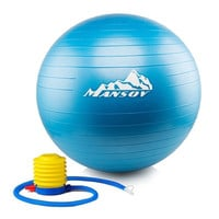 [Large Yoga Ball with Pump] Mansov Eco-friendly Thick Exercise Ball85cm Durab...