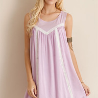 Sleeveless Dress with Crochet Strap Back - 2 colors!