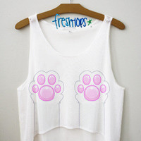 Paw Life Crop Top | fresh-tops.com