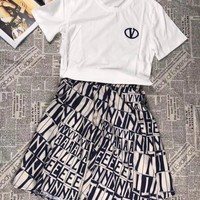 VLTN Women Top Skirt Two-Piece