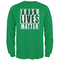Irish Lives Matter Mens Long Sleeve T Shirt