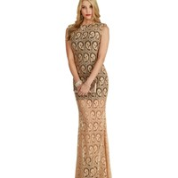 Christy-taupe Formal Dress
