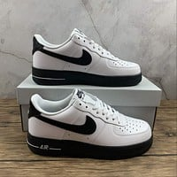 Morechoice Tuhz Nike Air Force 1 Low White Black Sole Sneakers Casual Skaet Shoes Ck7663-101