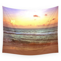 Society6 BeacH Sunrise Sunset Wall Tapestry