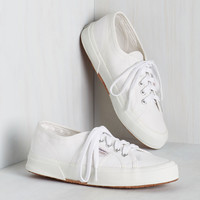 Active Kindness Sneaker in Cloud | Mod Retro Vintage Flats | ModCloth.com