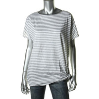 MICHAEL Michael Kors Womens Heathered Striped Pullover Top